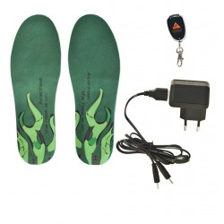 Set: heated insoles, remote control, USB charger
